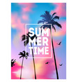 Summer tropical background with palms sky and