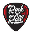 template with stylish design guitar plectrum vector image vector image