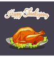 Thansgiving Turkey And Pumpkin vector image