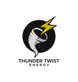 thunder twist logo vector image