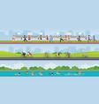 triathlon marathon sport competition race vector image vector image