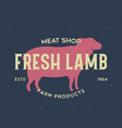 vintage logo for dairy and meat business butcher vector image vector image