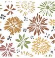 wildflower in blossom blooming flowers print vector image vector image