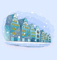 winter city background with houses vector image vector image