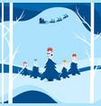 winter city landscape snowy street and winter vector image vector image