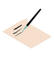write brush icon isometric 3d style vector image vector image