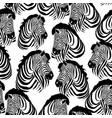zebra pattern animal vector image vector image
