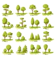 Forest Flat Elements Set vector image