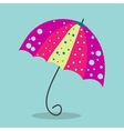 Multicolored umbrella-cane - a symbol of summer vector image