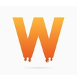Letter W logo or symbol icon vector image