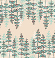 Seamless Patterns with Drawing sprigs of flowers vector image