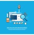 Web analytics information and website development vector image