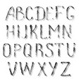 black letters of english alphabet vector image