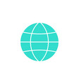 globe station solid icon world and earth vector image