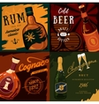 Alcohol bottles poster advertisement vector image