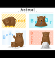 Animal background with Bears 2 vector image vector image