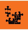 Baby puzzle ico vector image