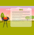 bbq poster with nature text vector image