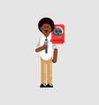 black man personal information vector image vector image