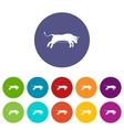 Bull set icons vector image
