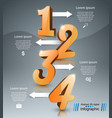 business infographic number icon vector image