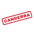 Canberra Rubber Stamp vector image vector image