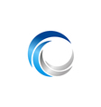 circle abstract technology blue logo vector image vector image