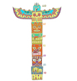 Colorful totem pole with Height scale vector image vector image