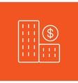 Condominium with dollar symbol line icon vector image vector image