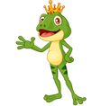Cute frog presenting vector image vector image