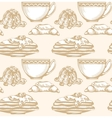 Dessert and coffee or tea vector image vector image