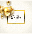 easter light composition with eggs on pendants of vector image vector image