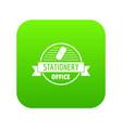eraser icon green vector image