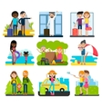 Family Vacation Collection vector image