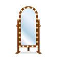fashion floor mirror vector image vector image