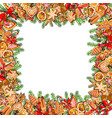 festive template isolated on white background vector image