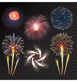 Fireworks festive bursting sparkling vector image