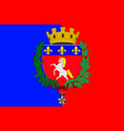 flag of saint-lo in normandy is a region of france vector image vector image