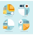 Flat backgrounds set Delivery vector image vector image