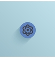 flat circle icon on blue background Eps10 vector image