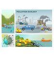 flat environment pollution composition vector image