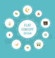 flat icons new lunar mecca pitcher and other vector image vector image