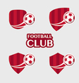 football Badge 6 vector image vector image