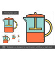 French press line icon