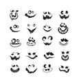 Ghost faces pumpkin faces vector image