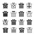 Gift box icons vector image