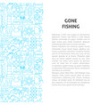 gone fishing line pattern concept vector image