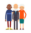 group older people three aged people black and vector image vector image