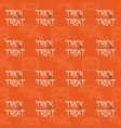 halloween tile pattern with trick or treat text vector image vector image