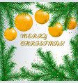 happy new year card with fir branches vector image